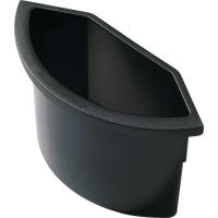 Abfalleinsatz Helit H61074, für Papierkörbe H61064 + H61076, 2 Liter, schwarz
