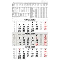 Dreimonatskalender 2018 Zettler 956, 3 Monate / 1 Seite, 30x52cm