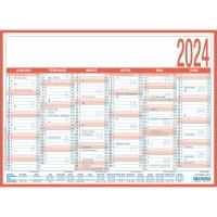 Tafelkalender 2018 Zettler 908, 6 Monate / 1 Seite, A4
