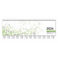 Tischquerkalender 2018 Zettler 137, 1 Woche / 2 Seiten, 36 x 10,5cm, grün