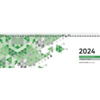Tischquerkalender 2018 Zettler 146, 1 Woche / 1 Seiten, 30 x 10cm, grün