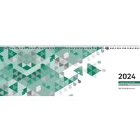Tischquerkalender 2018 Zettler 126, 1 Woche / 2 Seiten, 42x15cm, grün