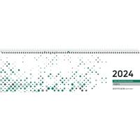 Tischquerkalender 2018 Zettler 130, 1 Woche / 2 Seiten, 31,5x10cm, grün