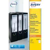 AVERY L4760-25 RING BINDER LABELS 192 X 38MM - BOX OF 25