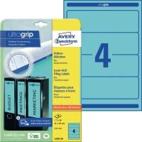 Ordner-Etiketten Avery Zweckform L4767, kurz / breit, blau, 20 Blatt/80 Stück