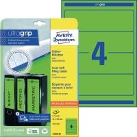Ordner-Etiketten Avery Zweckform L4768, kurz / breit, grün, 20 Blatt/80 Stück