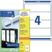 Ordner-Etiketten Avery Zweckform L4761-100 kurz / breit weiß 100 Bogen/400 Stück