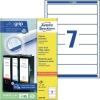 Ordner-Etiketten Avery Zweckform L4760, kurz / schmal, weiß, 100 Blatt/700 Stück
