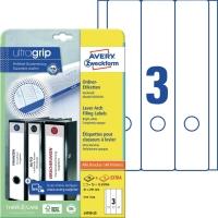 Ordner-Etiketten Avery Zweckform L4759, lang / breit, weiß, 25 Blatt/90 Stück