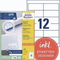 Universal-Etiketten Avery Zweckform 3659, (LxB)97x42,3mm, weiß, 100Bl/1.200St