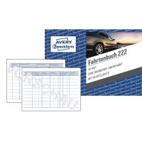 Fahrtenbuch Avery Zweckform 222, steuerlicher km-Nachweis, A6 quer, weiß, 40 Bl