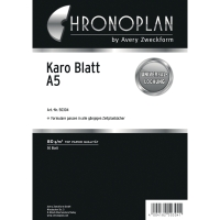 Notizblätter Chronoplan 50304, kariert, A5, weiß, 50 Blatt