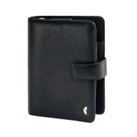 Ringbuch Chronoplan 50105 Standart Midi, Rindnappaleder, schwarz