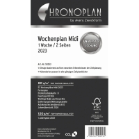 Wochenplan 2018 Chronoplan 50258, 1 Woche / 2 Seiten, Midi
