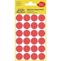 Avery Zweckform 3004 Markierungspunkte, Ø 18 mm, 4 Bogen/96 Etiketten, rot