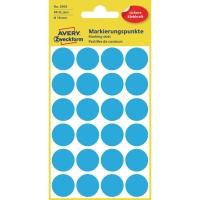Markierungspunkte Avery Zweckform 3005, Ø 18mm, blau, 4 Blatt/96 Stück