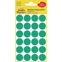Markierungspunkte Avery Zweckform 3006, Ø 18mm, grün, 4 Blatt/96 Stück