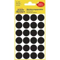 Markierungspunkte Avery Zweckform 3003, Ø 18mm, schwarz, 4 Blatt/96 Stück