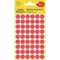 Markierungspunkte Avery Zweckform 3141, Ø 12 mm, rot, 270 Stück