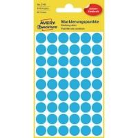Markierungspunkte Avery Zweckform 3142, Ø 12 mm, blau, 270 Stück