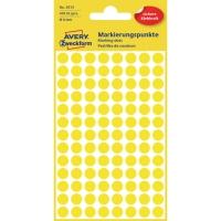 Markierungspunkte Avery Zweckform 3013, Ø 8mm, gelb, 4 Blatt/416 Stück
