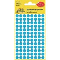 Markierungspunkte Avery Zweckform 3011, Ø 8mm, blau, 4 Blatt/416 Stück