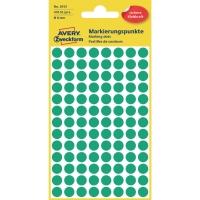 Markierungspunkte Avery Zweckform 3012, Ø 8mm, grün, 4 Blatt/416 Stück