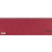 Tischquerkalender 2018 Glocken 71921, 1 Woche / 1 Seite, 29,7x10cm, rot