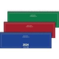 Tischquerkalender 2018 Brunnen 77401, 1 Woche / 2 Seiten, 32,6x10,2cm, sortiert