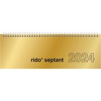 Tischquerkalender 2018 ide 36121 Septant, 1 Woche / 2 Seiten, 30,7x10,5cm, gold