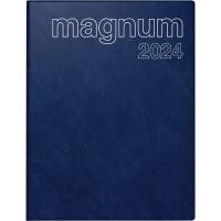 Buchkalender 2018 ide 27042 Magnum, 1 Woche / 2 Seiten, 18,3x24cm, blau