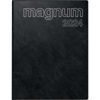 Buchkalender 2018 ide 27042 Magnum, 1 Woche / 2 Seiten, 18,3x24cm, schwarz