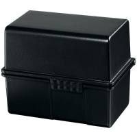 Helit Business Card File Black Ivory