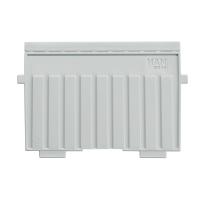 Stützplatte HAN 9026, für Karteikästen-tröge, A6 quer, lichtgrau