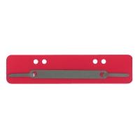 Heftstreifen, kurz, PP, Metalldeckleiste, rot, 25 Stück