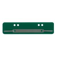 Heftstreifen, kurz, PP, Metalldeckleiste, grün, 25 Stück
