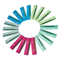 Heftstreifen, kurz, RC-Karton, Metalldeckleiste, farbig sortiert, 200 Stück