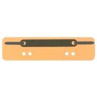 Heftstreifen, kurz, RC-Karton, Metalldeckleiste, gelb, 25 Stück
