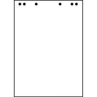 Flipchartblock Landre 419000001, RC, blanko, Maße: 68 x 99cm, 20 Blatt, 5 Stück