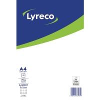 Briefblock Lyreco, A4, kariert, 70g, ungelocht, 50 Blatt