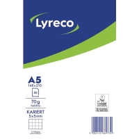 Briefblock Lyreco, A5, kariert, 70g, ungelocht, 50 Blatt