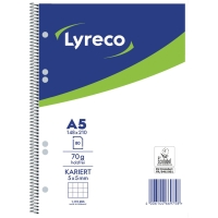 Collegeblock Lyreco, A5, kariert, 70g, 6fach gelocht, 80 Blatt