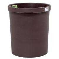 Papierkorb Voss 201S, Fassungsvermögen: 18 Liter, braun
