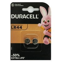 Batterie Duracell 101797, Knopfzelle, LR44, 1,5 Volt, Alkali-Mangan, 2 Stück