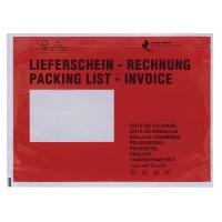 Dokumententaschen C6, mit Aufdruck Lieferschein / Rechnung, 100 Stück