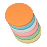 Moderationskarten OTC M307-99, Ø 95mm, Kreise, 130g, 6-farbig sortiert, 250 St.