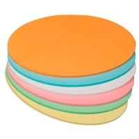Moderationskarten OTC M303-99, Ovale, 105x190mm, 130g, 6-farbig sort., 250 St.