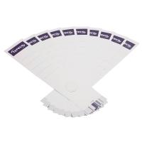 Rückenschilder Lyreco, lang / breit, weiß, 10 Stück