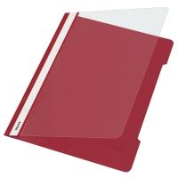 Schnellhefter Leitz 4191, A4, aus PVC-Folie, rot