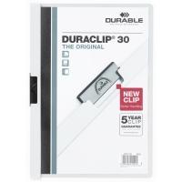 Klemmmappe Durable Duraclip 2200, A4, Fassungsvermögen: 30 Blatt, weiß